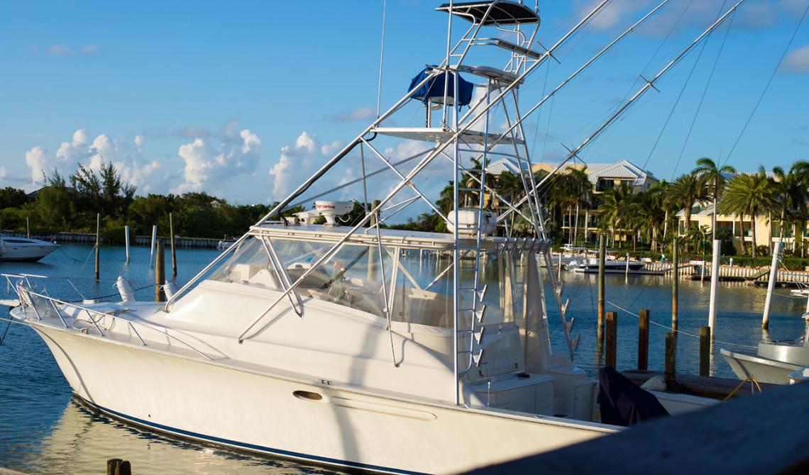 Vy från verakdan till Tiki Hut Island Eatery, Turks & Caicos