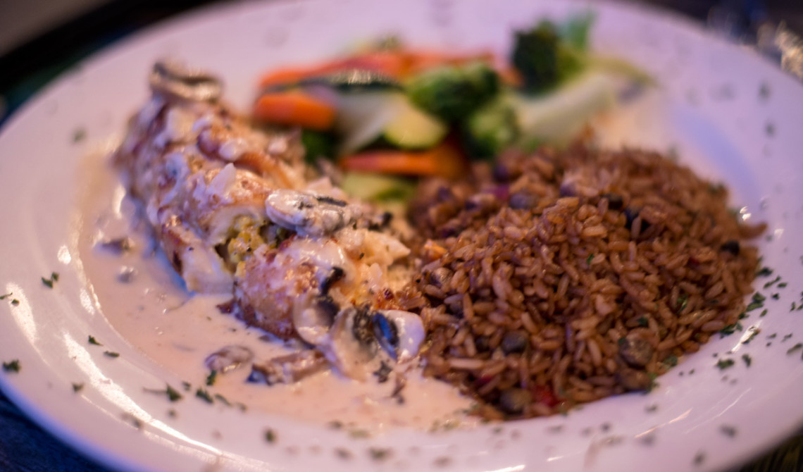 Middag på Tiki Hut Island Eatery, Turks & Caicos