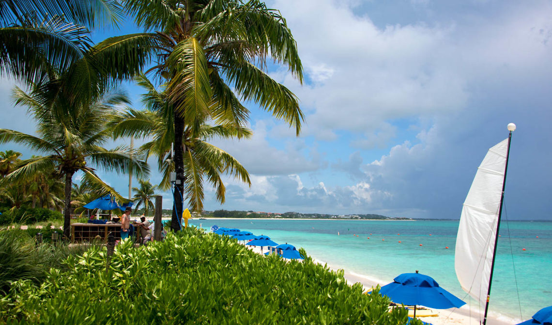 Strandvy från Windsong Resort, Turks & Caicos