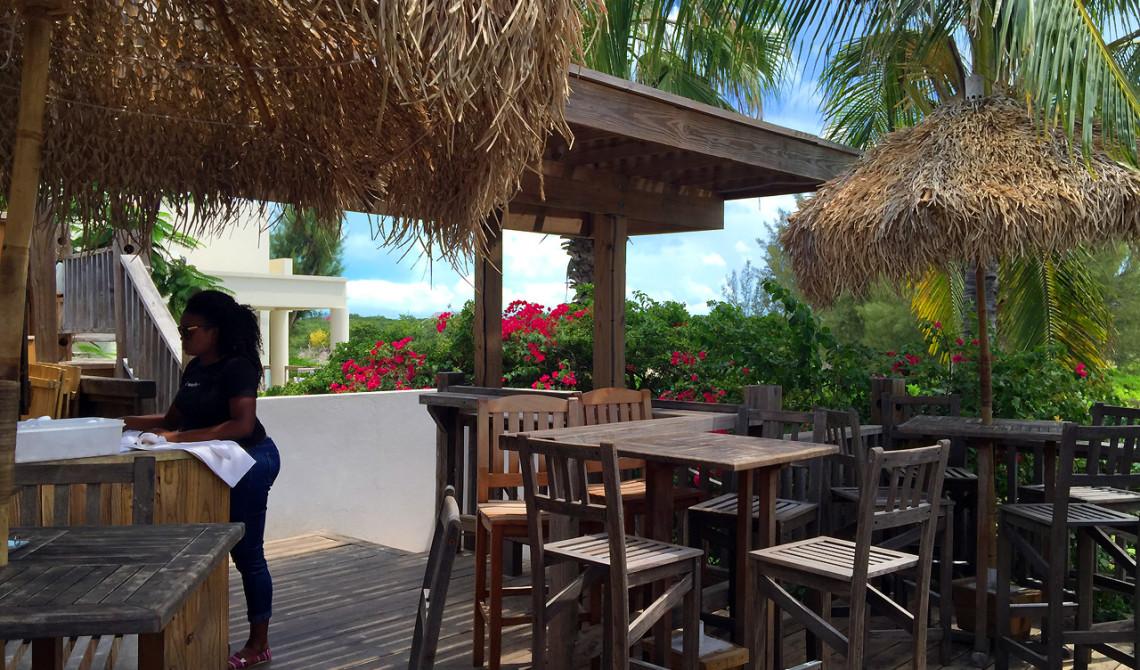 Den övre terassen till Somewhere Café & Lounge, Turks & Caicos