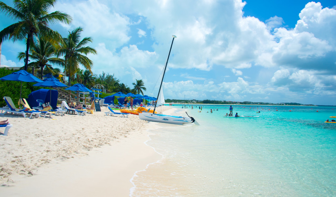 Stranden utanför Windsong Resort, Turks & Caicos