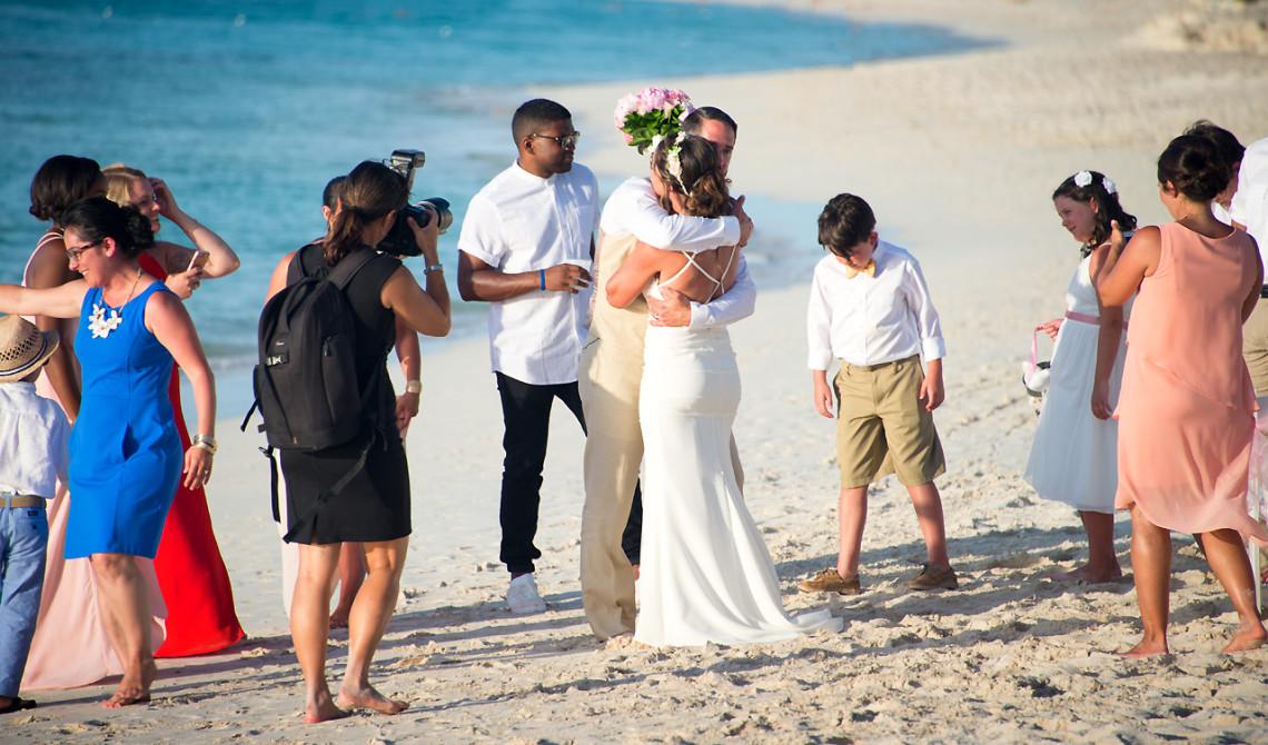 Ett bröllop på stranden på Turks & Caicos