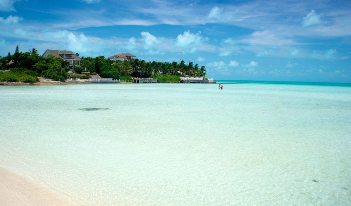 En av paradisstränderna på Turks & Caicos, Taylor Bay Beach