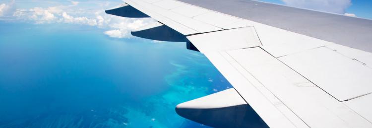 Vacker vy från flygplanet