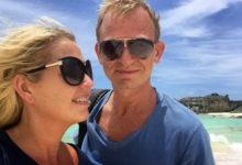 Anki och Lars på Mudjin Harbour på Middle Caicos