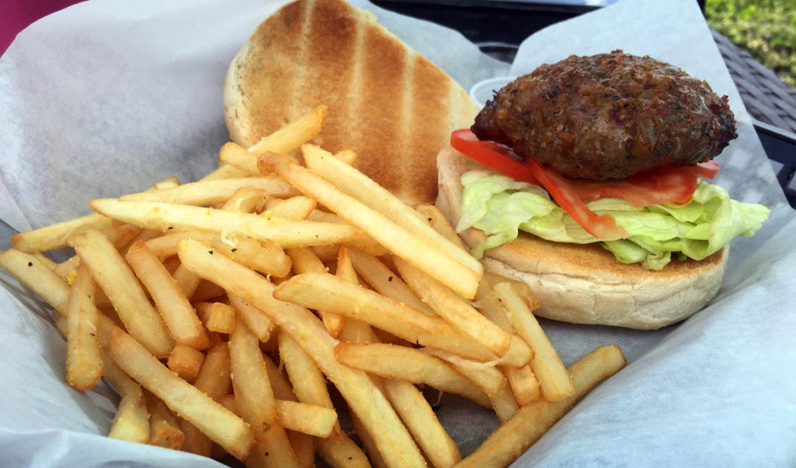 Lunch på Mudjin Bar and Grill på Middle Caicos