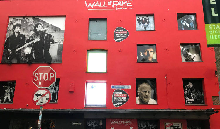 Wall of fame i Dublin