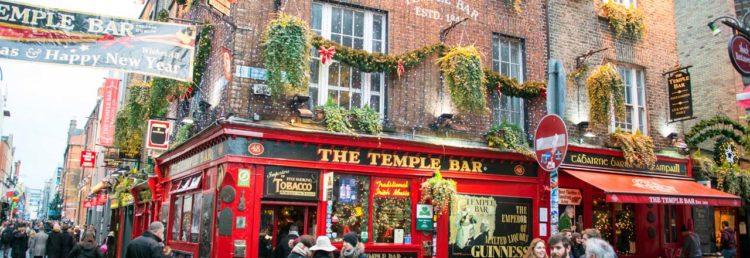 Den välkända Temple Bar i Dublin