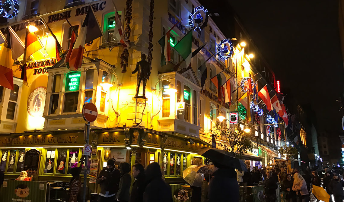 Dublins gator på nyårsafton