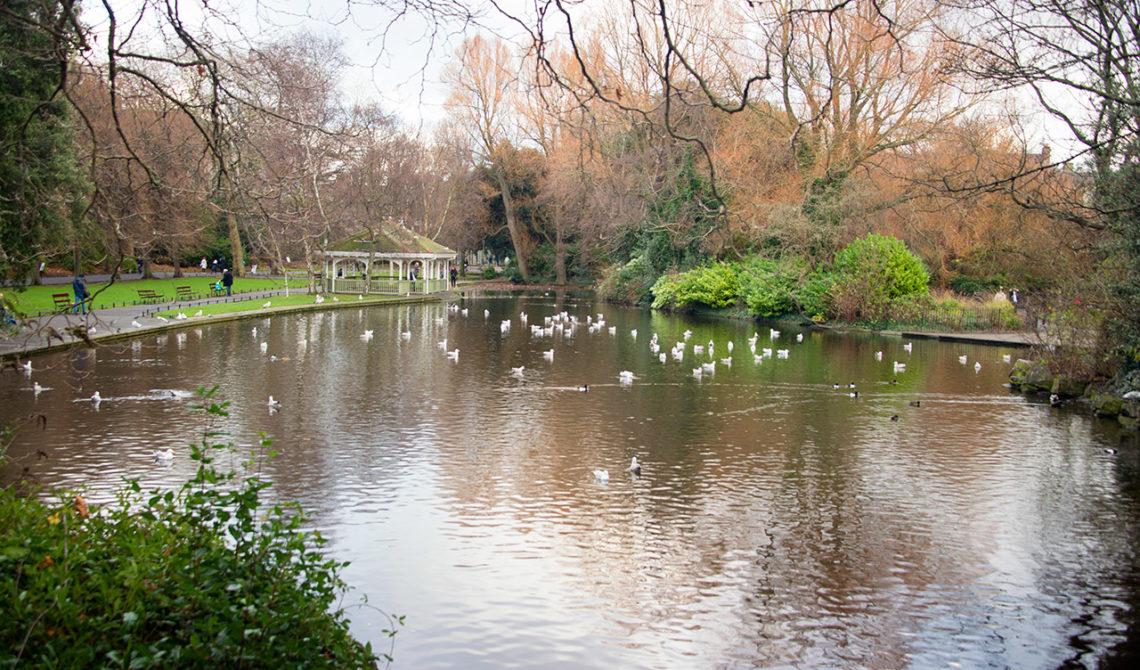 St Stephens Green Park i Dublin, Irland