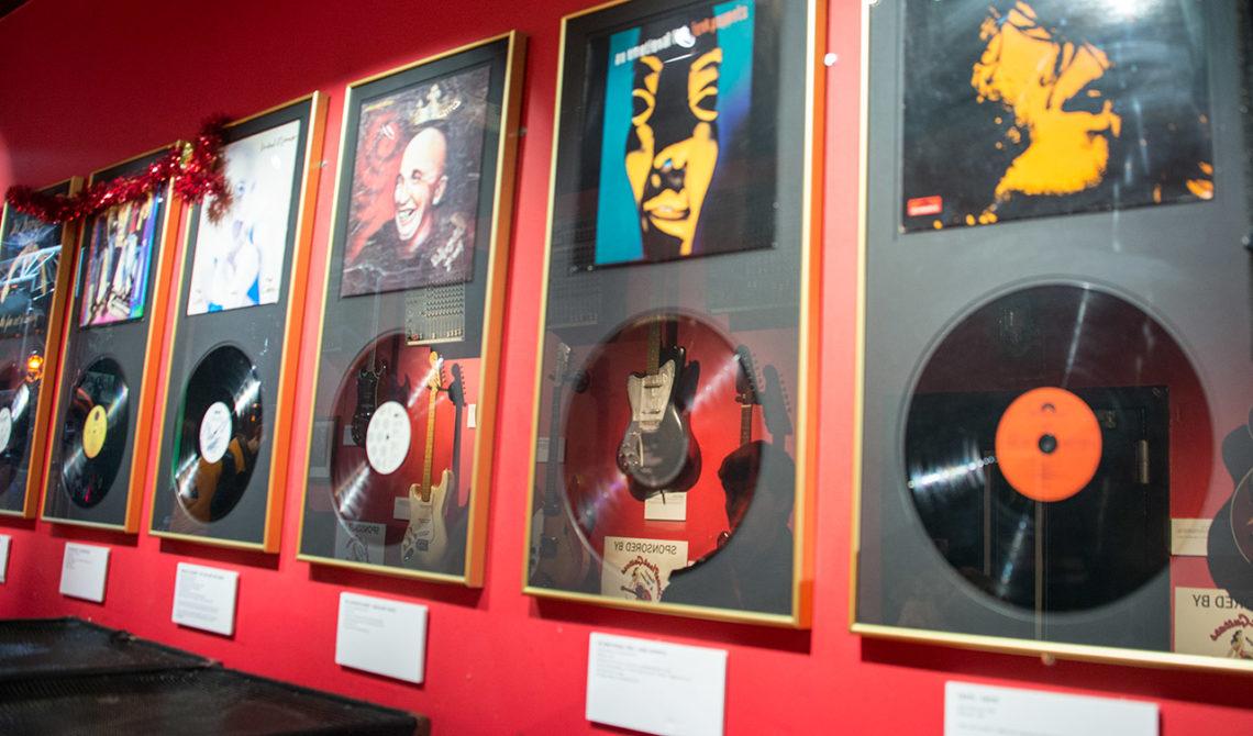 I början av den guidade turen på Irish Rock N Roll Museum Experience i Dublin