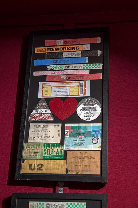 Irländska bandet U2 är självklart en av stoltheterna inne på Irish Rock N Roll Museum Experience i Dublin