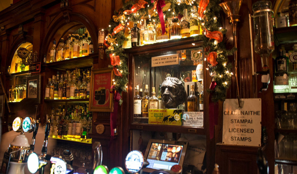 Inne på The Palace Bar i Dublin