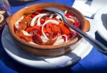 Ensalada de pimientos på Chiringuito Almijara