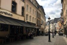 Längst med gatorna i Luxemburg stad