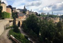 Vacker vy över Luxemburg stad