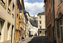 Gata i gamla stan i Luxemburg
