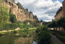 Nere i gamla stan i Luxemburg