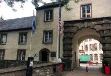 Vi gjorde en kort sväng inom staden Wiltz i Luxembourg