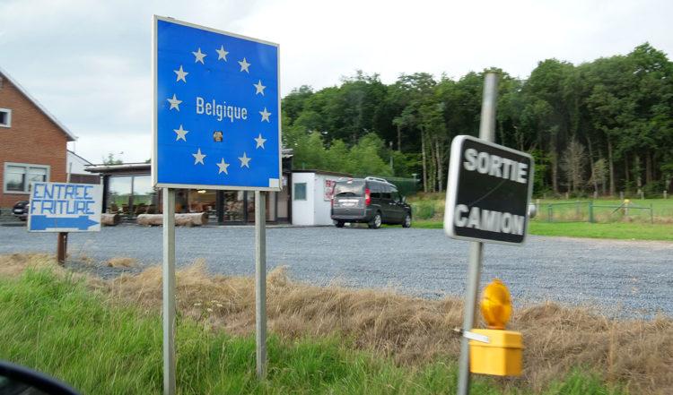 Gränsen mellan Luxembourg och Belgien