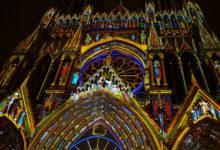 Ljusspel på Reims katedral