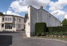 Taittinger champagnehus i Reims stad