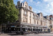 Gata i centrala Reims i Frankrike