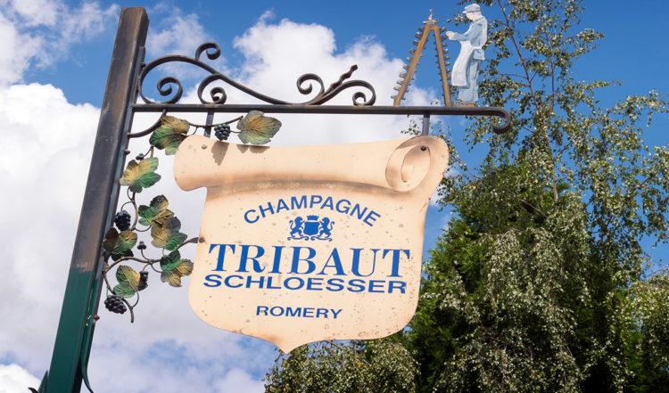 Champagnetillverkaren Tribaut Schloesser i Romery, Frankrike