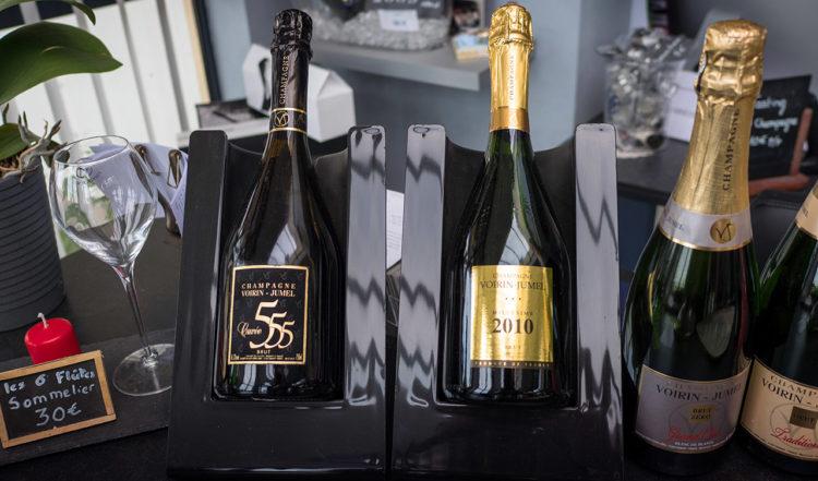 Champagne provning på Voirin-Jumel i Cramant, Frankrike