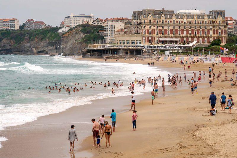 La Grande Plage, Biarritz Frankrike