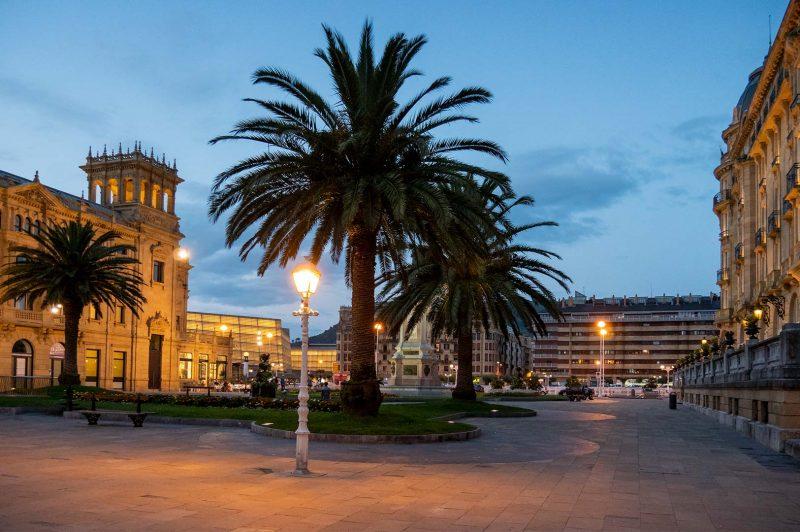 Plaza de Okendo, San Sebastian Spanien