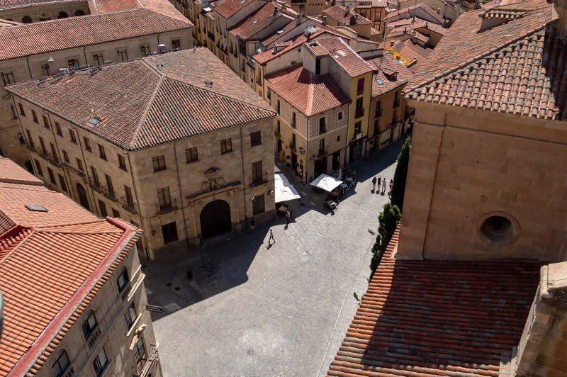 Streets of Salamanca from Torre de La Clerecia