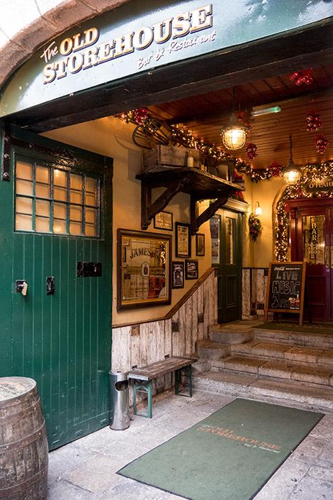 Entré till The Old Storehouse i Dublin