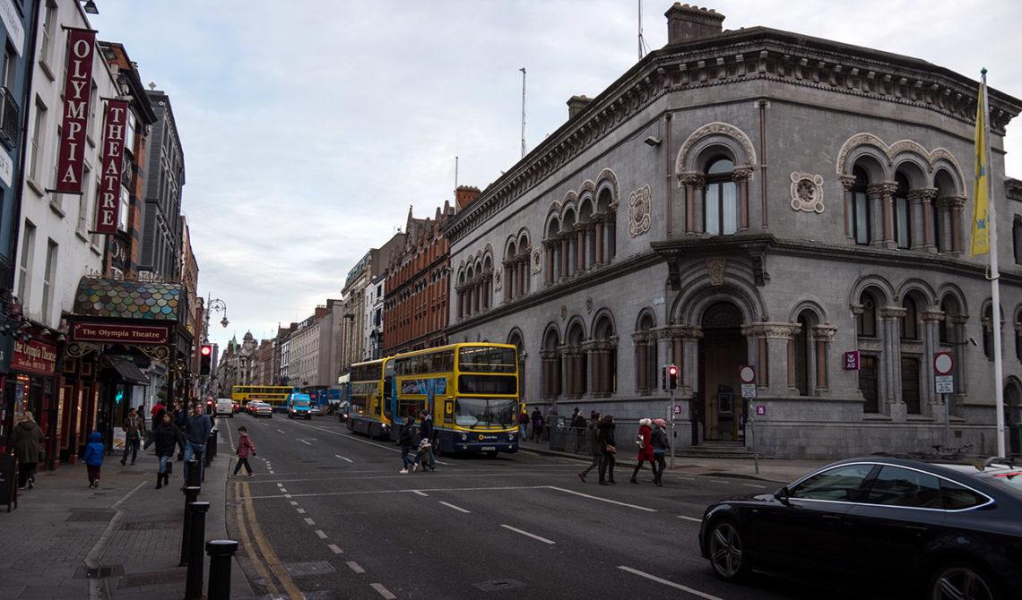 Bland gatorna i centrala Dublin