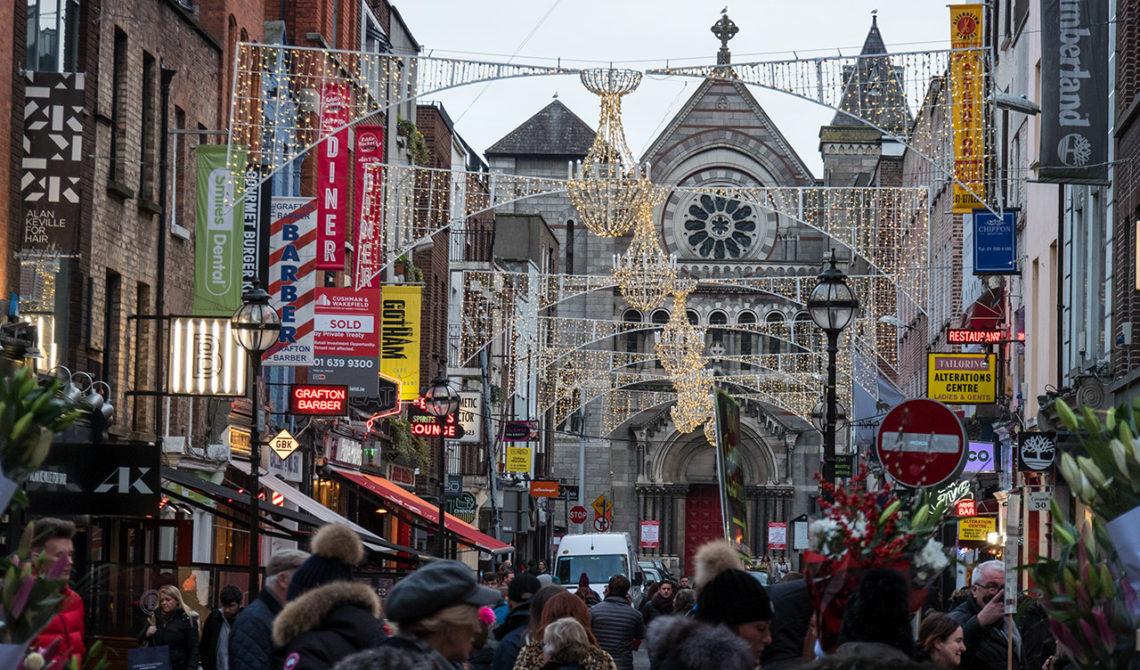 Julkänslor i centrala Dublin