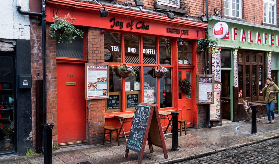 Exteriör till Joy of Chá i Dublin