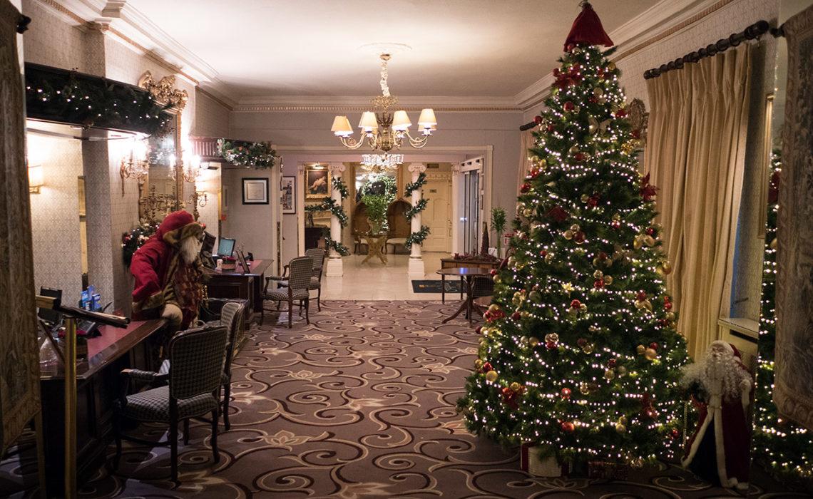 Receptionen till Fitzpatrick Castle Hotel, i Killiney, Irland