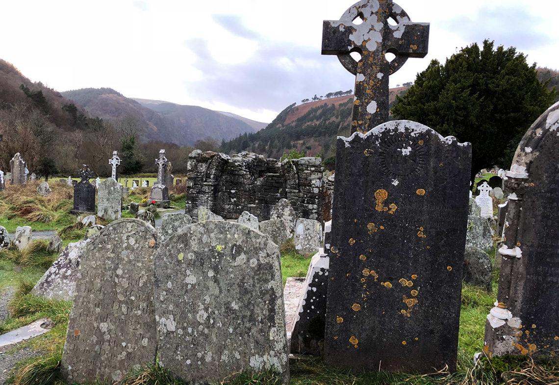 Gamla gravstenar, Monastic City, Glendalough