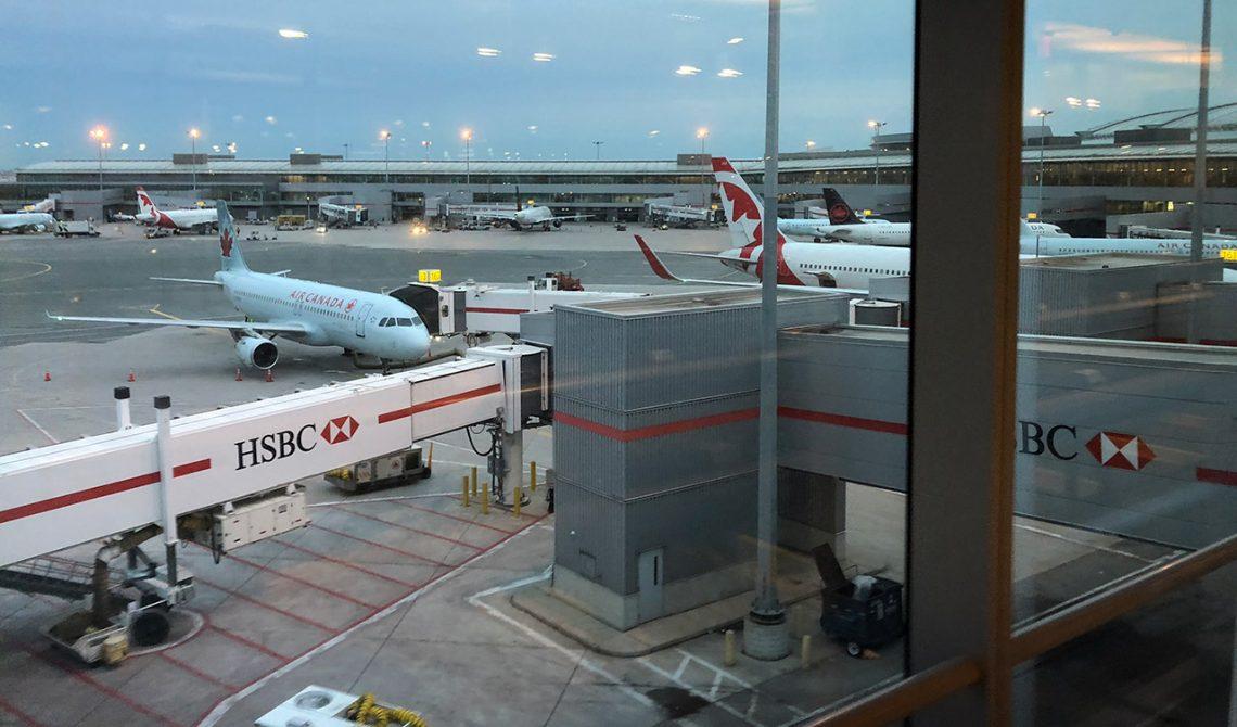 Tidig morgon på Pearson Airport, Toronto Kanada