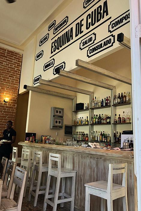 Restaurant Esquina de Cuba, Havanna