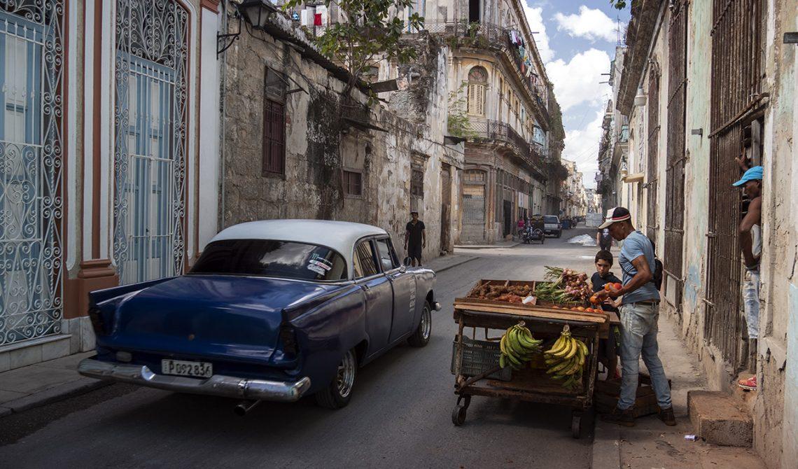 Vardagsliv i de gamla stadsdelarna i Havanna