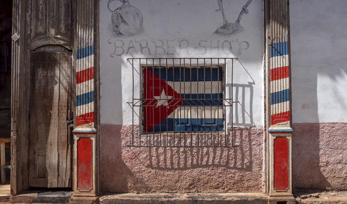 Barber shop i gamla delarna av Havanna