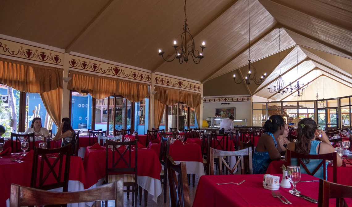 Restaurant at Hotel Las Cuevas, in Trinidad Cuba