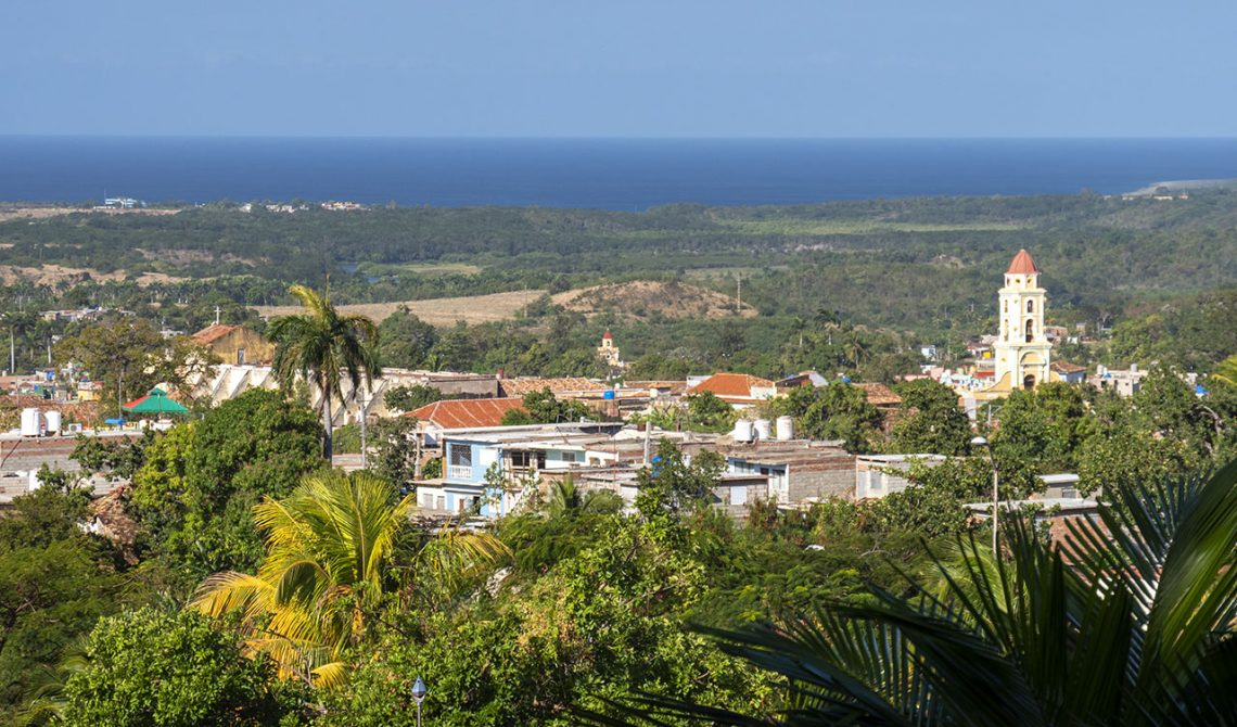 View over Trinidad from Hotel Las Cuevas, in Trinidad Cuba