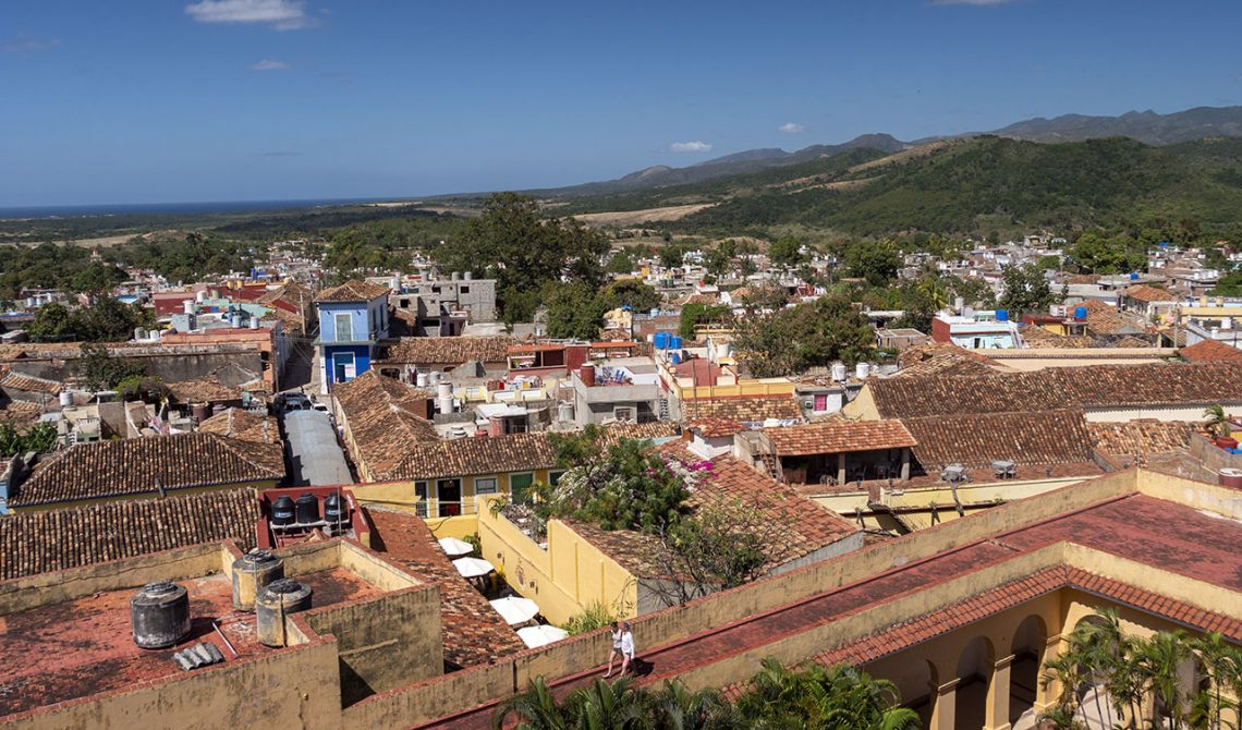 View from the church tower in Trinidad, Cuba