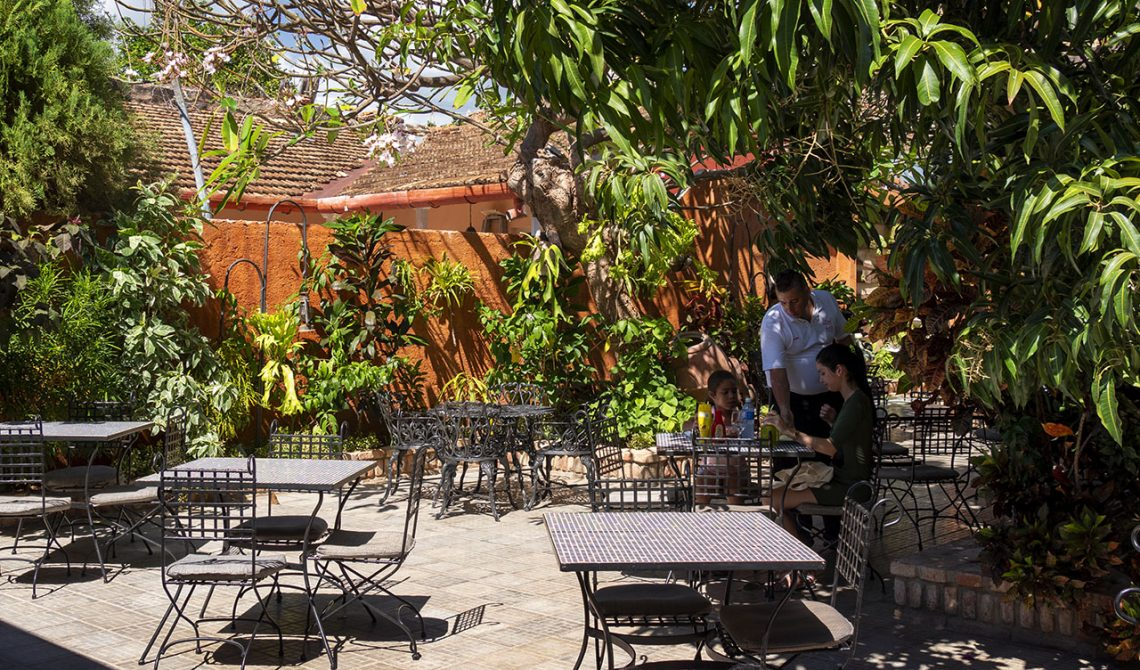 Inneryard of a cozy restaurant in Trinidad