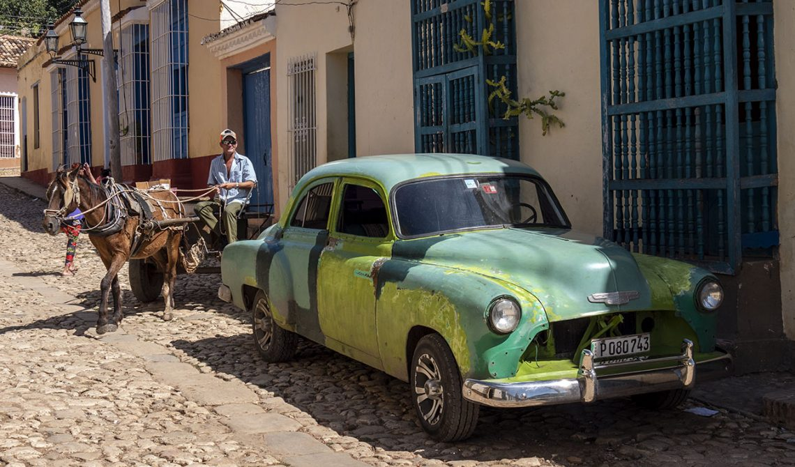Typical view in Trinidad, Cuba