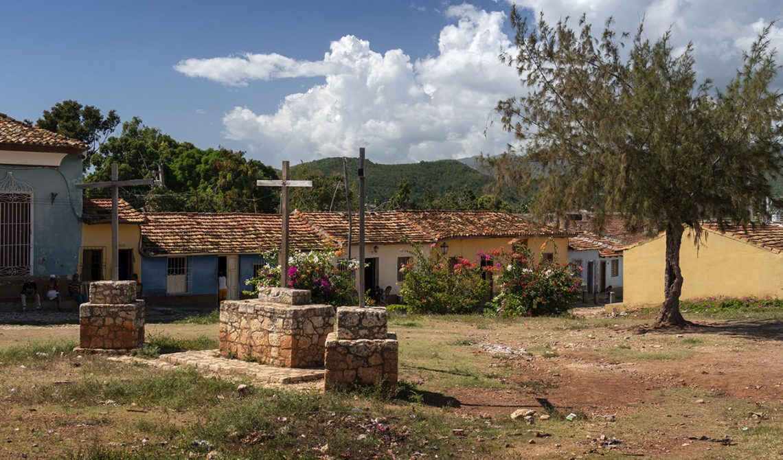 A small open area in the outskirt of central Trinidad