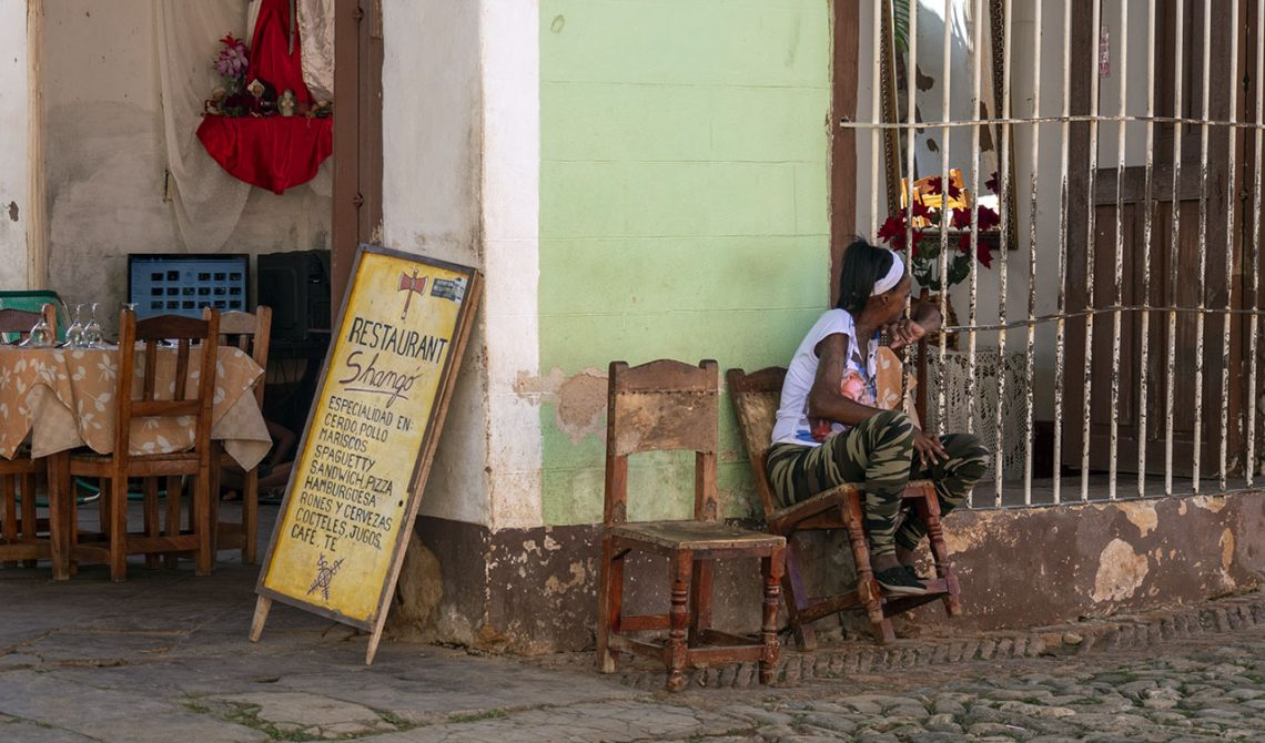 Outside Restaurant Casa Shango in Trinidad, Cuba