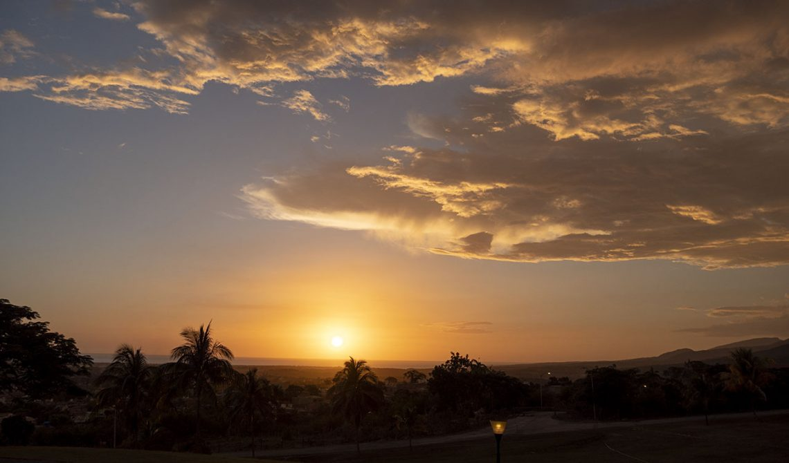 Sunset over Trinidad, Cuba